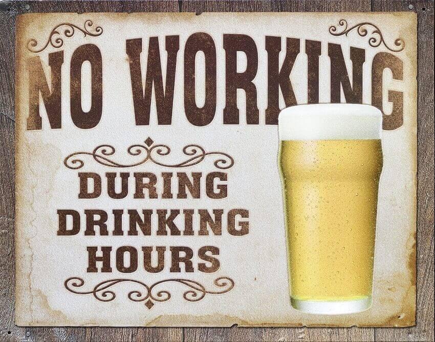 Frase sobre cerveja sem alcool