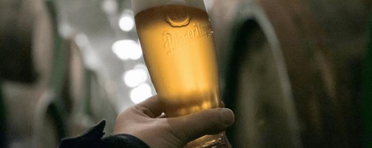 A tonalidade inconfundível da cerveja pilsen